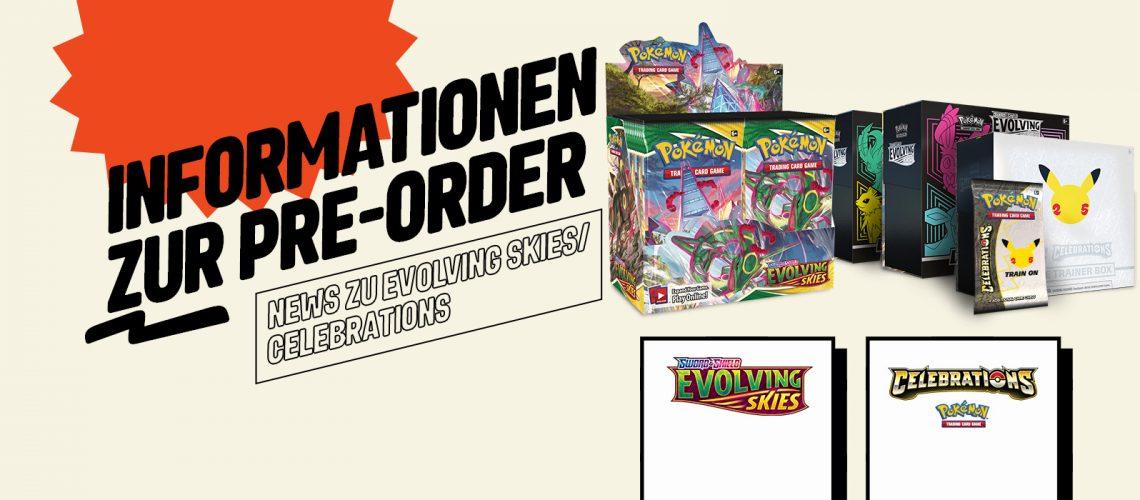 Pre-order Info Evo / Cele